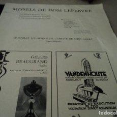Coleccionismo de Revistas y Periódicos: MISSELS DE DOM LEFEBVRE ABBAYE DE SAINT ANDRE BRUGES BELGICA Y VEZELAY. Lote 93831640