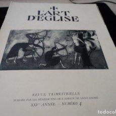 Coleccionismo de Revistas y Periódicos: L´ART D´EGLISE REVISTA LITURGICA 1956EN FRANCES PASTORALE D´ART Y MUSICA SACRA. Lote 93840310
