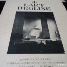 Coleccionismo de Revistas y Periódicos: L´ART D´EGLISE EVOLUCION DEL ARTE RELIGIOSO EN ESTADOS UNIDOS 1957 IDIOMA FRANCES. Lote 93903590