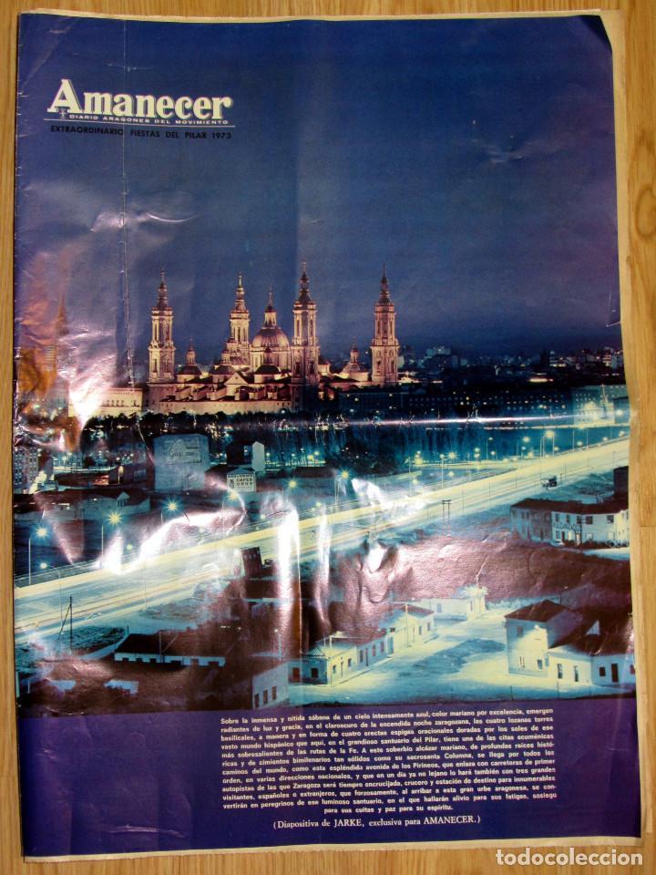 AMANECER DIARIO ARAGONES MOVIMIENTO FRANQUISTA NUMERO EXTRAORDINARIO FIESTAS DEL PILAR 1973 ZARAGOZA (Coleccionismo - Revistas y Periódicos Modernos (a partir de 1.940) - Otros)
