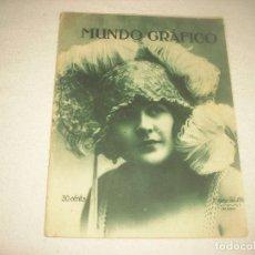 Coleccionismo de Revistas y Periódicos: MUNDO GRAFICO N° 550 , MAYO 1922 . MARY DEL SOTO CANCIONISTA. Lote 94126155