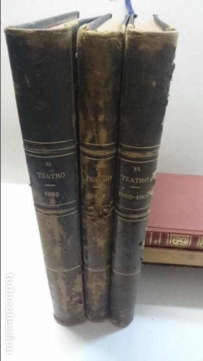 Coleccionismo de Revistas y Periódicos: El Teatro - Números 1 al 39 - 3 Tomos (1900-1903) - Foto 3 - 94235435