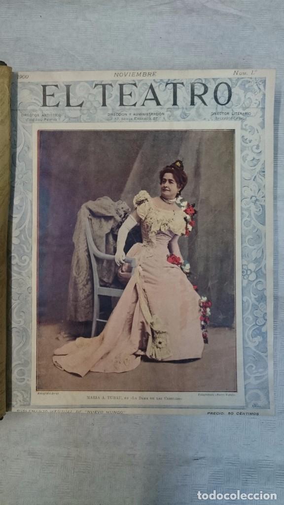 Coleccionismo de Revistas y Periódicos: El Teatro - Números 1 al 39 - 3 Tomos (1900-1903) - Foto 4 - 94235435