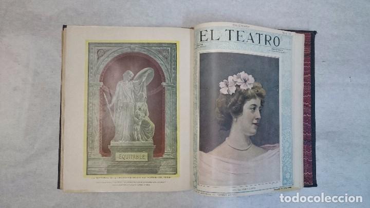 Coleccionismo de Revistas y Periódicos: El Teatro - Números 1 al 39 - 3 Tomos (1900-1903) - Foto 7 - 94235435