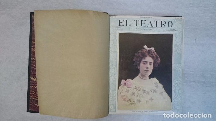 Coleccionismo de Revistas y Periódicos: El Teatro - Números 1 al 39 - 3 Tomos (1900-1903) - Foto 8 - 94235435