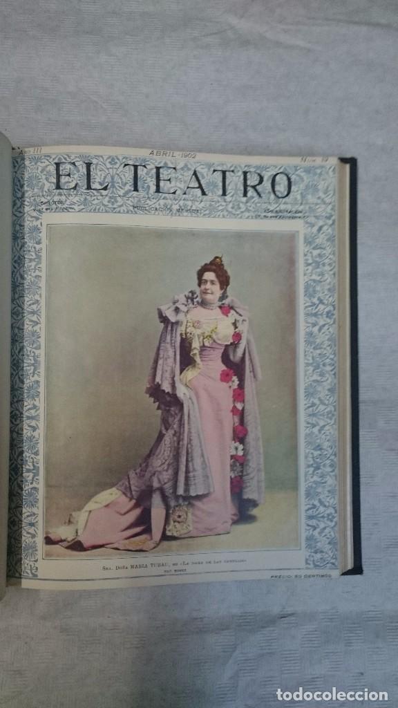 Coleccionismo de Revistas y Periódicos: El Teatro - Números 1 al 39 - 3 Tomos (1900-1903) - Foto 10 - 94235435