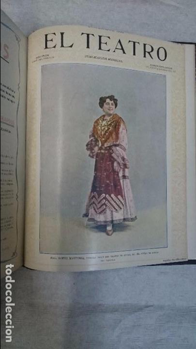 Coleccionismo de Revistas y Periódicos: El Teatro - Números 1 al 39 - 3 Tomos (1900-1903) - Foto 12 - 94235435