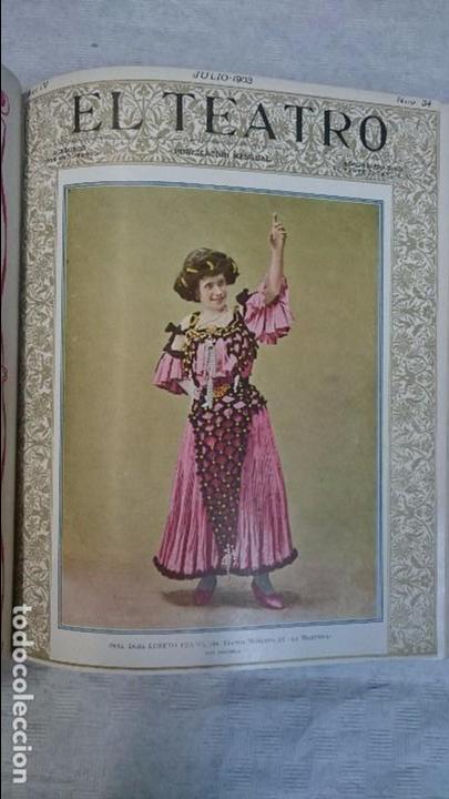 Coleccionismo de Revistas y Periódicos: El Teatro - Números 1 al 39 - 3 Tomos (1900-1903) - Foto 16 - 94235435