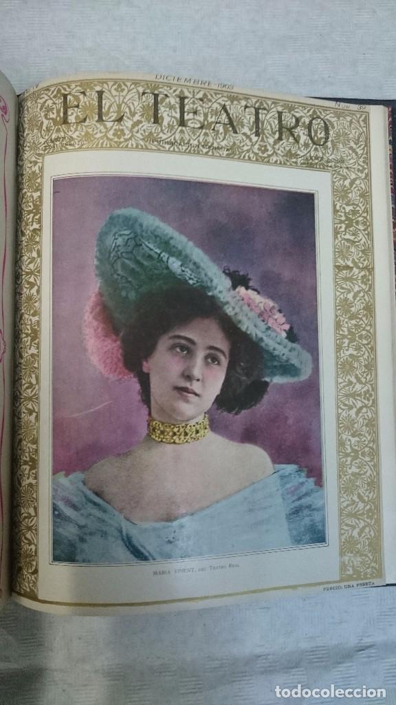 Coleccionismo de Revistas y Periódicos: El Teatro - Números 1 al 39 - 3 Tomos (1900-1903) - Foto 18 - 94235435