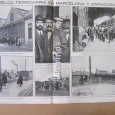 Coleccionismo de Revistas y Periódicos: 1912 BARCELONA Y ZARAGOZA, HUELGA FERROVIARIA. GUADARRAMA. EMILIA PARDO BAZÁN (402). Lote 94263505