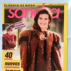 Coleccionismo de Revistas y Periódicos: SANDRA - EL PUNTO DE MODA- N°39 - 40 NUEVOS JERSEYS- NOVIEMBRE 1989. Lote 94277935