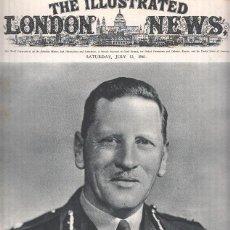 Coleccionismo de Revistas y Periódicos: THE ILLUSTRATED LONDON NEWS, JULY 12 1941: GENERAL SIR CLAUDE AUCHINLECK. Lote 81914350