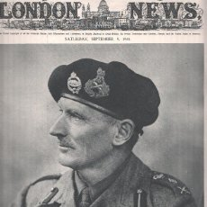 Coleccionismo de Revistas y Periódicos: THE ILLUSTRATED LONDON NEWS, SEPTEMBER 9 1944: FIELD-MARSAHL SIR BERNARD MONTGOMERY. Lote 69436397