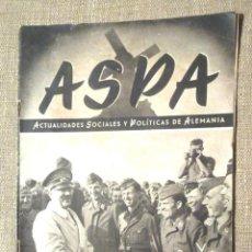 Coleccionismo de Revistas y Periódicos: ASPA 2 1943 ENERO ACTUALIDADES SOCIALES Y POLÍTICAS DE ALEMANIA ARQUEOLOGÍA ALEMANA EN MEDITERRÁNEO. Lote 94649743