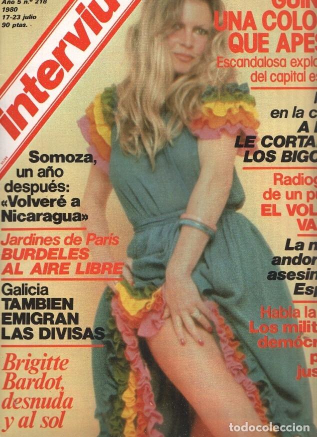 Interviu Volumen 0218 Brigitte Bardot Desnuda Al Sol