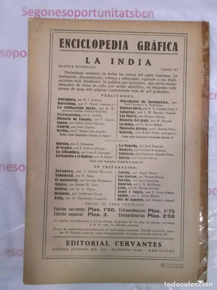 Coleccionismo de Revistas y Periódicos: enciclopedia gráfica La India ed. Cervantes de 1930 - Foto 2 - 94735887