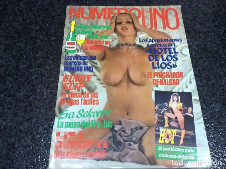 NUMERO UNO Nº 6 , MANTIENE SUPLEMENTO , REVISTA EROTICA DE LOS 80 (Coleccionismo - Revistas y Periódicos Modernos (a partir de 1.940) - Otros)
