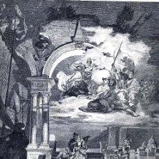 Coleccionismo de Revistas y Periódicos: VENECIA 1883 ITALIA ALEGORIA ILUSTRACION HOJA REVISTA. Lote 95187183