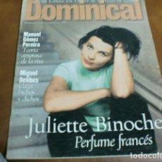 Coleccionismo de Revistas y Periódicos: REV. DOMINICALJULIETTE BINOCHE ALBUM Y POSTE MIGUEL DELIBES, ATHINA ROUSSEL,BLUR CUARTETO BRITANICO,. Lote 95212107