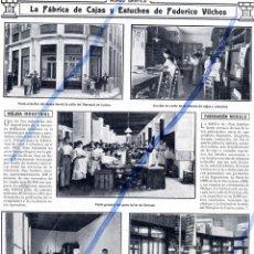 Coleccionismo de Revistas y Periódicos: MALAGA 1912 FABRICA ESTUCHES FEDERICO VILCHES HOJA REVISTA. Lote 95266575