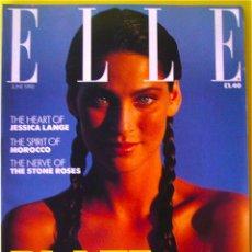 Coleccionismo de Revistas y Periódicos: REVISTA ELLE UK JUNIO 1990 JESSICA LANGE CLAUDIA SCHIFFER LANA OGILVIE MODA BELLEZA. Lote 95375567