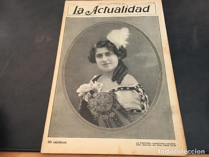 LA ACTUALIDAD Nº 382 29 NOVIEMBRE 1913. LA TROYANA, EXPRESIDENTES REPUBLICA FRANCESA (Coleccionismo - Revistas y Periódicos Antiguos (hasta 1.939))