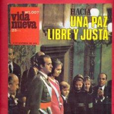 Coleccionismo de Revistas y Periódicos: REVISTA VIDA NUEVA Nº1007 - 6 DE DICIEMBRE DE 1975 - HACIA UNA PAZ LIBRE Y JUSTA - 44 PÁGINA. . Lote 95657795