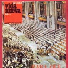 Coleccionismo de Revistas y Periódicos: REVISTA VIDA NUEVA Nº1008 - 13 DE DICIEMBRE DE 1975 -¿PARA QUÉ HA SERVIDO EL CONCILIO? 44 PÁGINAS. Lote 95657939