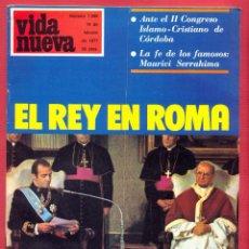 Coleccionismo de Revistas y Periódicos: REVISTA VIDA NUEVA Nº 1068 - 19 DE FEBRERO DE 1977 - EL REY EN ROMA - 50 PÁGINAS TAPA BLANDA. Lote 95658231