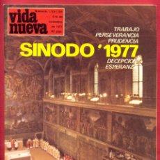 Coleccionismo de Revistas y Periódicos: REVISTA VIDA NUEVA Nº 1103/04 - 5/12 DE NOV. DE 1977- SÍNODO 1977 - 83 PÁGINAS TAPA BLANDA. Lote 95658787