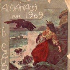 Coleccionismo de Revistas y Periódicos: ALMANACH ESQUELLA DE LA TORRATXA 1909 - 208 PÁGINAS. INCLUYE EL DESPLEGABLE CENTRAL,. Lote 95755275