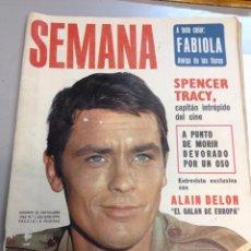 Coleccionismo de Revistas y Periódicos: REVISTA SEMANA Nº 1336 ALAIN DELON . Lote 95834127