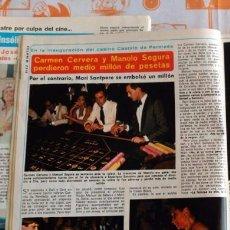 Coleccionismo de Revistas y Periódicos: CARMEN CERVERA NURIA TORRAY MARISA GARRIDO MARI SANTPERE MARUJA GARRIDO. Lote 82977276