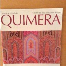 Coleccionismo de Revistas y Periódicos: REVISTA DE LITERATURA QUIMERA - NUMERO 182 - (JULIO - AGOSTO 1999). Lote 95876115