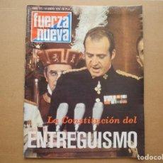 Coleccionismo de Revistas y Periódicos: REVISTA FUERZA NUEVA. N. 575 14 ENERO 1978. Lote 95893011
