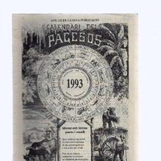 Coleccionismo de Revistas y Periódicos: CALENDARIO DELS PAGESOS 1993. Lote 96028483
