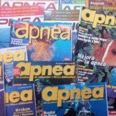 Coleccionismo de Revistas y Periódicos: APNEA LOTE DE 21 REVISTAS VER FOTOGRAFÍAS. Lote 96297471