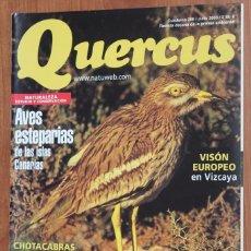 Coleccionismo de Revistas y Periódicos: REVISTA QUERCUS - CUADERNO 209 - JULIO 2003 AVES ESTEPARIAS CANARIAS, VISON EUROPEO, CHOTACABRAS. Lote 96341131