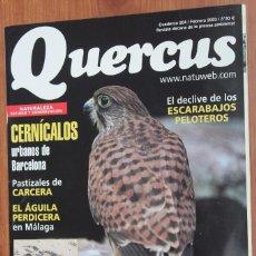 Coleccionismo de Revistas y Periódicos: REVISTA QUERCUS - CUADERNO 204 - FEBRERO 2003 CERNICALOS, AGUILA PERDICERA, ESCARABAJOS PELOTEROS. Lote 96341203
