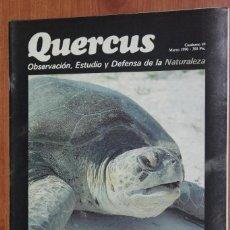Coleccionismo de Revistas y Periódicos: REVISTA QUERCUS - CUADERNO 49 - MARZO 1990 TORTUGAS MARINAS MEDITERRANEO, PRIMATES BRASIL, CERNICALO. Lote 96357355