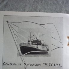 Coleccionismo de Revistas y Periódicos: COMPAÑÍA DE NAVEGACIÓN VIZCAYA. PUBLICIDAD REVISTA 1937. Lote 96372675