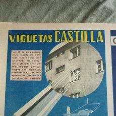 Coleccionismo de Revistas y Periódicos: VIGUETAS CASTILLA. PUBLICIDAD REVISTA 1937. Lote 96378655