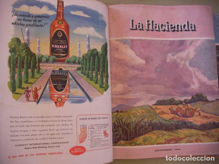 Coleccionismo de Revistas y Periódicos: GRAN TOMO DE REVISTAS LA HACIENDA AÑO 1945 - Foto 4 - 96398399