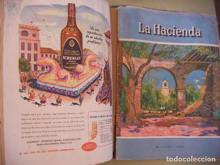 Coleccionismo de Revistas y Periódicos: GRAN TOMO DE REVISTAS LA HACIENDA AÑO 1945 - Foto 5 - 96398399