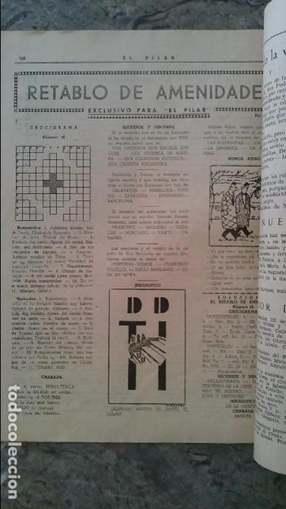 EL PILAR SEMANARIO CATOLICO 1950 (Coleccionismo - Revistas y Periódicos Modernos (a partir de 1.940) - Otros)