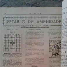 Coleccionismo de Revistas y Periódicos: EL PILAR SEMANARIO CATOLICO 1950. Lote 96507175