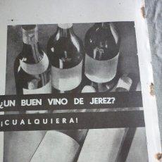 Coleccionismo de Revistas y Periódicos: VINO DE JEREZ. PUBLICIDAD ARTÍCULO ORIGINAL. REVISTA AÑO 1937. Lote 96634899