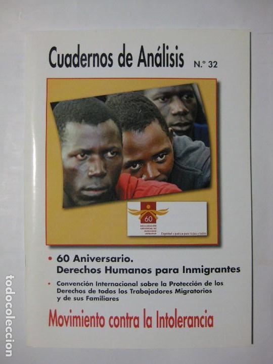 CUADERNOS DE ANÁLISIS Nº 32 - MOVIMIENTO CONTRA LA INTOLERANCIA (Coleccionismo - Revistas y Periódicos Modernos (a partir de 1.940) - Otros)