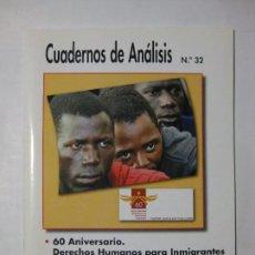 Coleccionismo de Revistas y Periódicos: CUADERNOS DE ANÁLISIS Nº 32 - MOVIMIENTO CONTRA LA INTOLERANCIA. Lote 96692911
