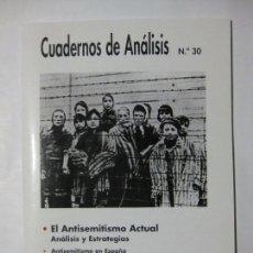 Coleccionismo de Revistas y Periódicos: CUADERNOS DE ANÁLISIS Nº 30 - MOVIMIENTO CONTRA LA INTOLERANCIA. Lote 96693091